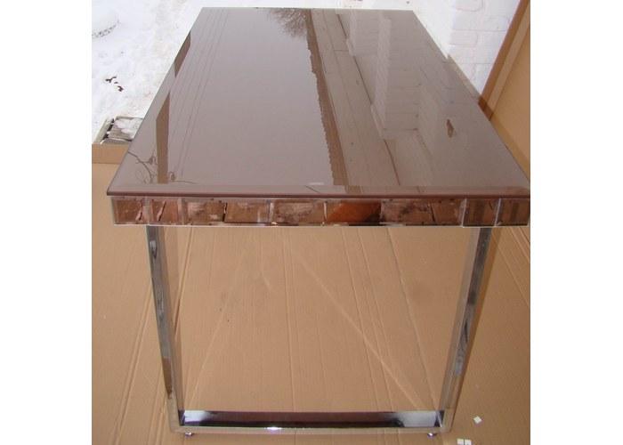 Стеклянный столик JL011 золотисто-коричневый Украина, стол на кухню