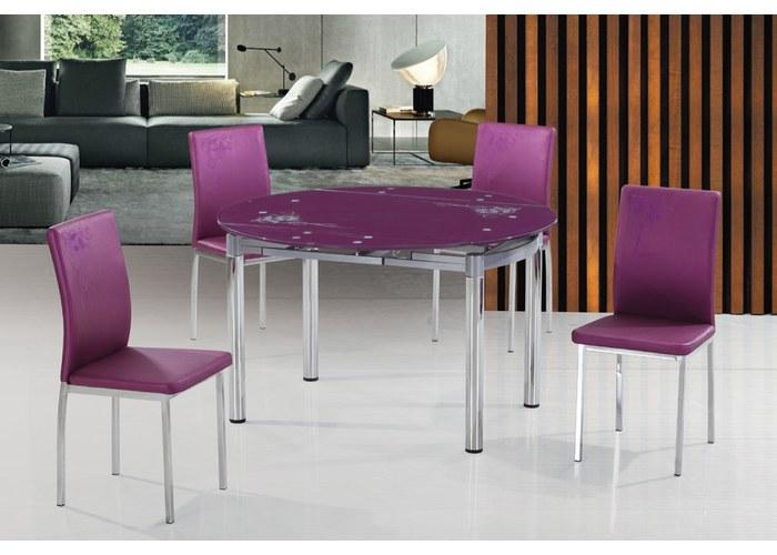 купить круглый стол для кухни раздвижной недорого стеклянный